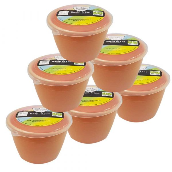 Peach Pudding Basins 1/4 Pint