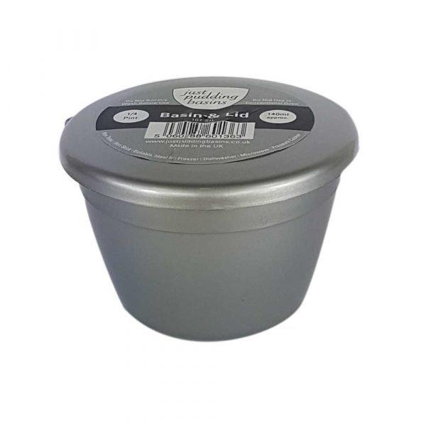 Small Silver Plastic Pudding Basin