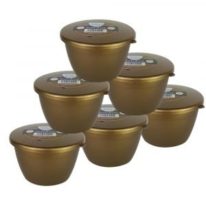 1/2 Pint Gold Pudding Basins