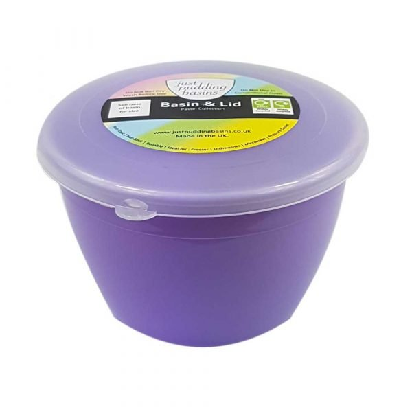 1/2 Pint Lilac Pudding Basin and Lid