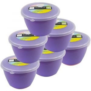 Lilac Pudding Basins and Lids 1/2 Pint