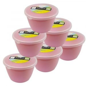 Pink 1/2 Pint Pudding Basins