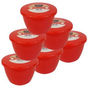 1/2 Pint Red Pudding Basins