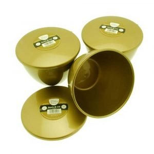 1.5 Pint Gold Pudding Basins