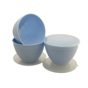Bule Pudding Basin and Lid 1.5 Pint Multipack of 3