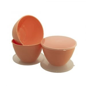Peach Pudding Basin with Lid