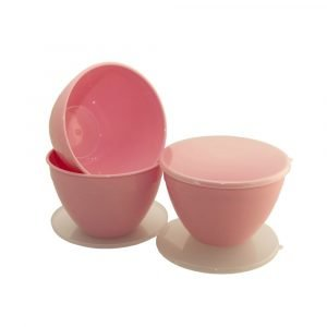 Pink Pudding Basins and Lids 1.5 Pint
