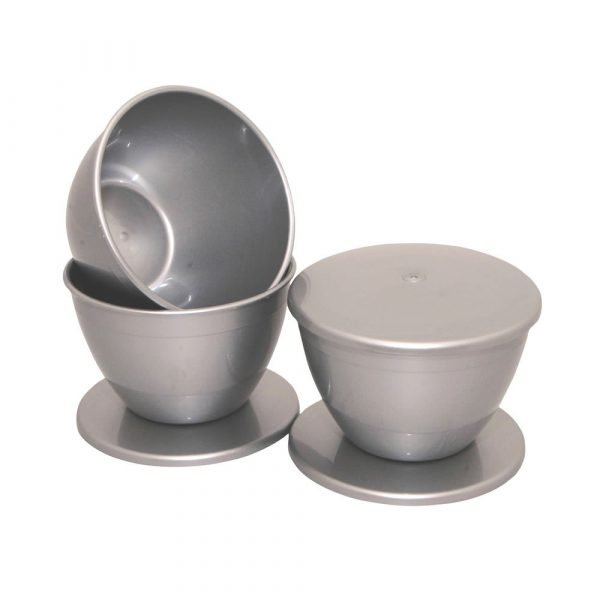 1.5 Pint Silver Pudding Bowls and Lids