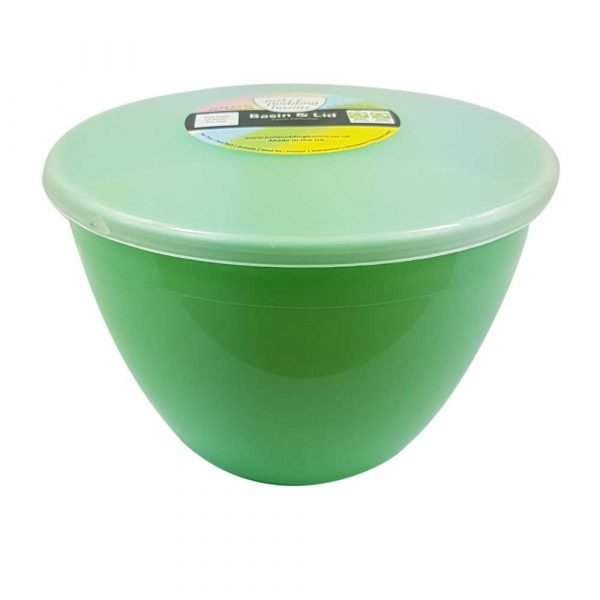 1.5 Pint Green Pudding Basin with Lid