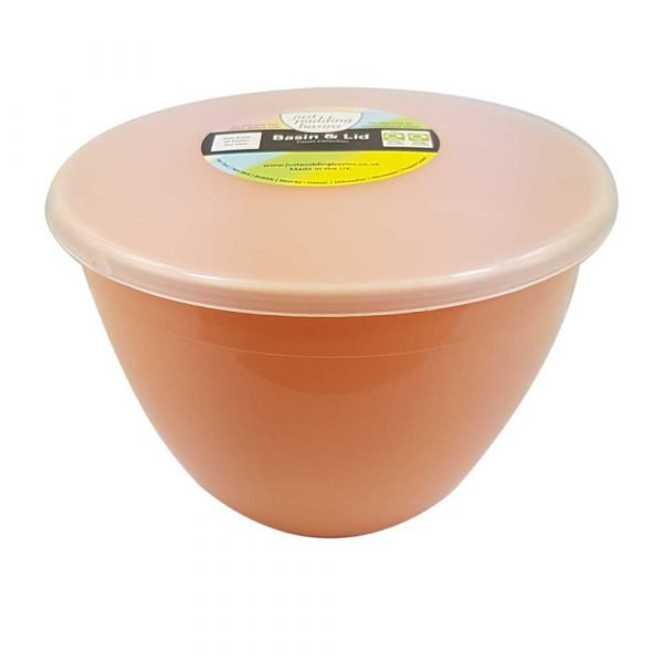 1.5 Pint Peach Pudding Basin with Lid