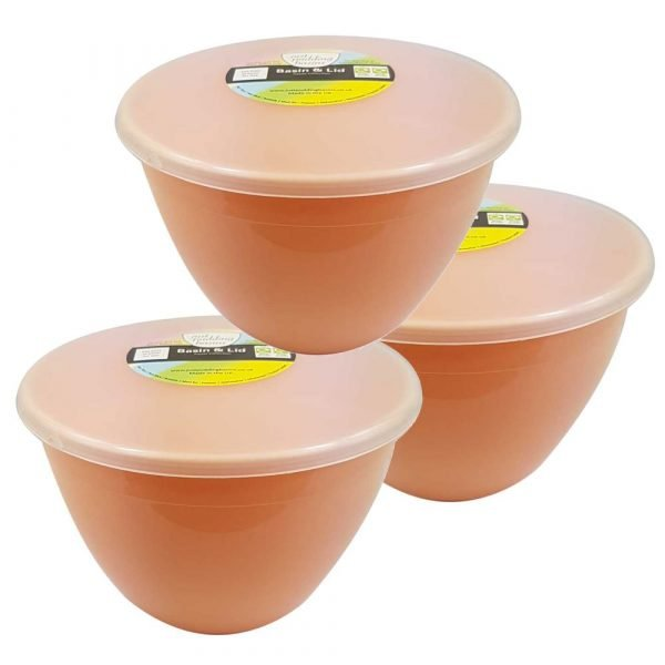 1.5 Pint Peach 3 pack with lids