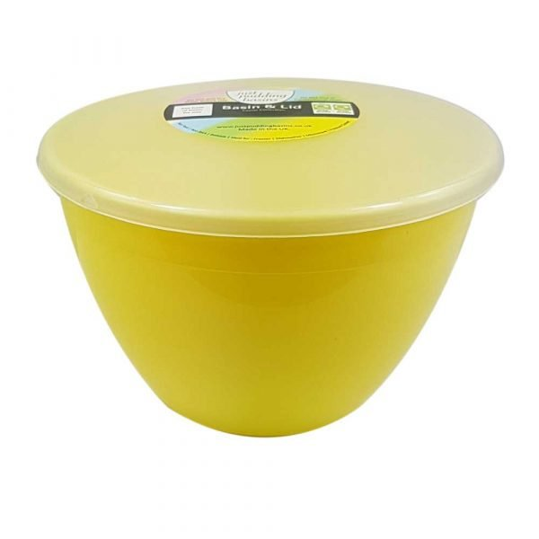 1.5 Pint Yellow Pudding Basin with Lid
