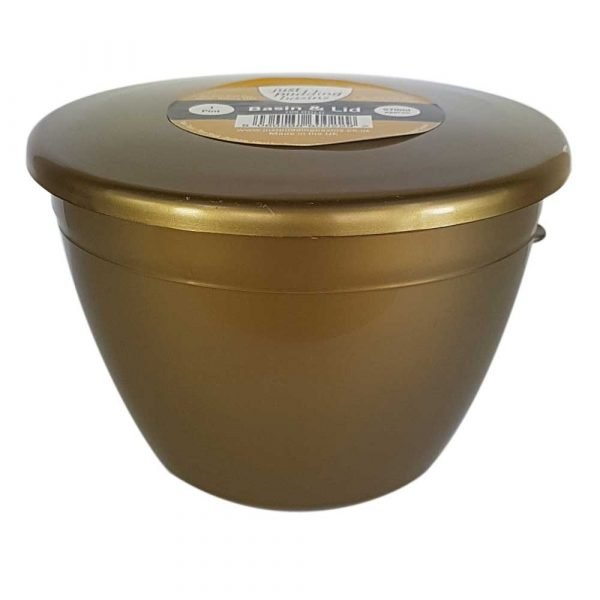 1 Pint Gold Pudding Basin and Lid