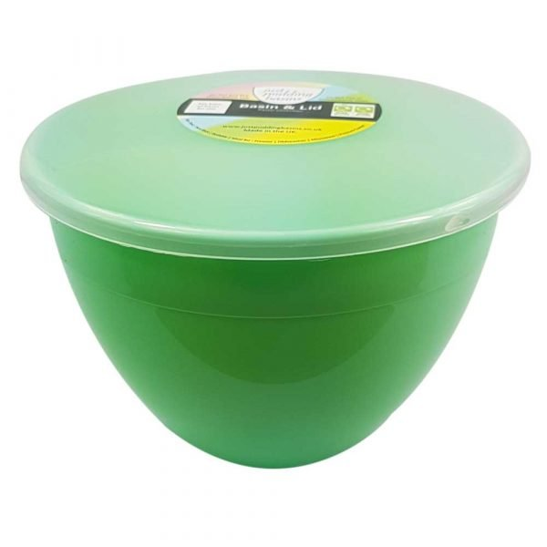 2 Pint Green Pudding Basin with Lid