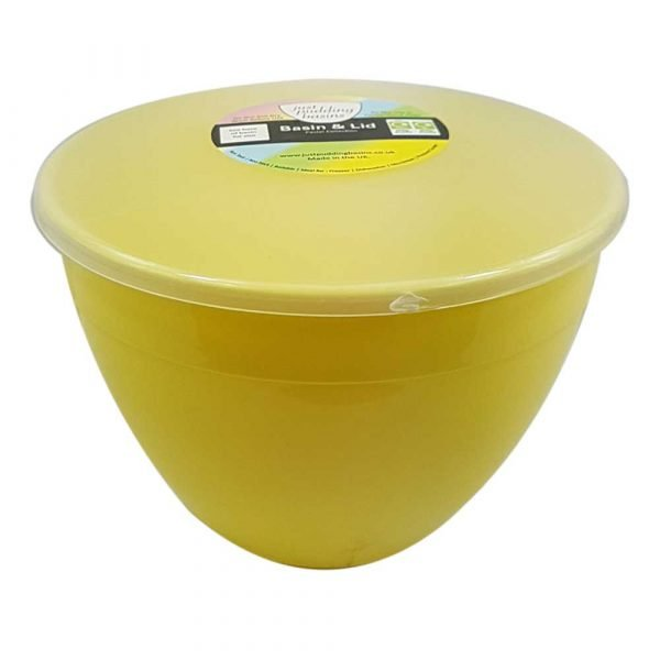 2 Pint Yellow Pudding Basin with Lid
