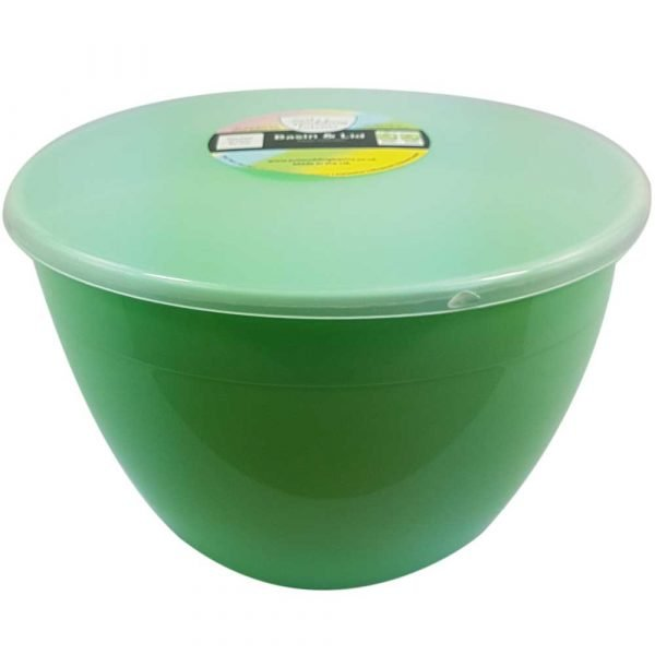 3 Pint Green Pudding Basin with Lid