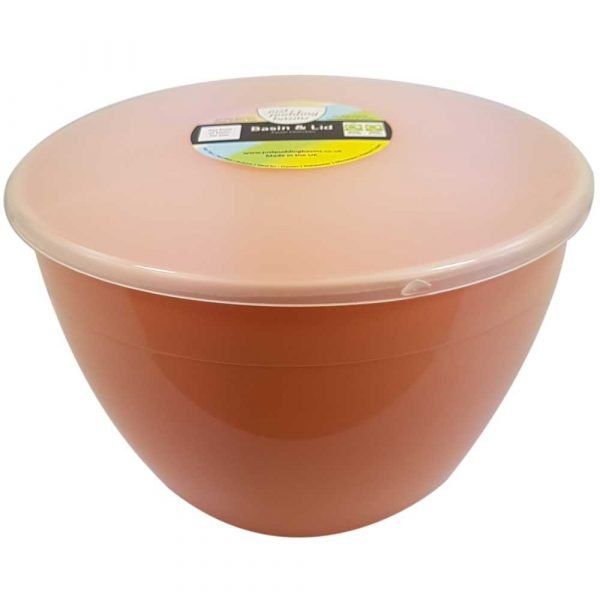 3 Pint Peach Pudding Basin with Lid