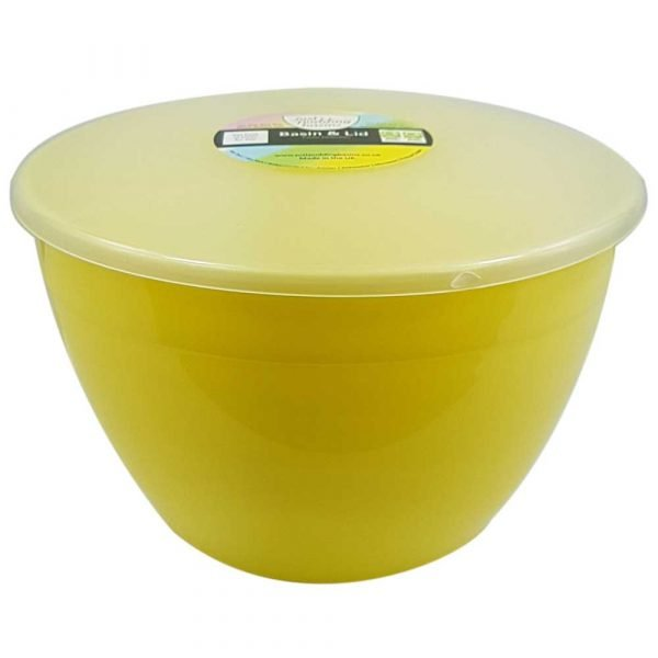 3 Pint Yellow Pudding Basin with Lid