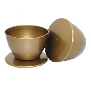 4 Pint Gold Coloured Basins