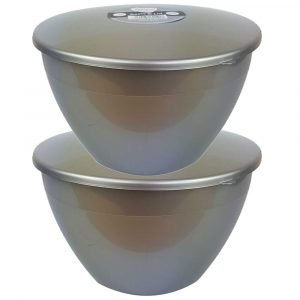 4 Pint Silver Pudding Basins with Lids