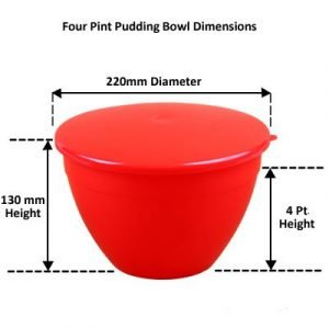 4 Pint Pudding Basin Size Chart