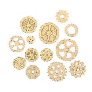SteamPunk Cogs and Wheels 13pk 3.4cm - 1.2cm