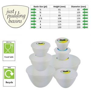 7 Pudding Basins 1 of each Size!