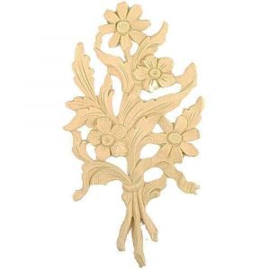 Floral Bunch Wooden Moulding 22.7cm x 12.6cm