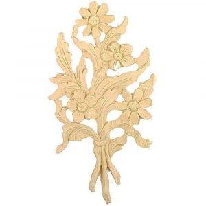 Floral Bunch Wooden Moulding 22.7cm x 12.6cm