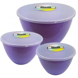 3 Lilac Pudding Basins