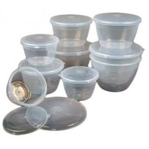 9 Clear Plastic Pudding Basins and Lids