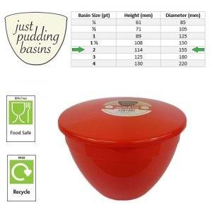 2 Pint Red Size Chart