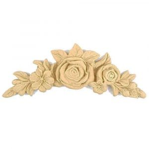 Floral Rose in Centre Wooden Moulding 15.7cm, x 3.2cm