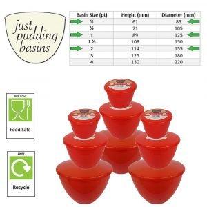 Santas Trio 9 Pudding Basins 3 of 3 Sizes