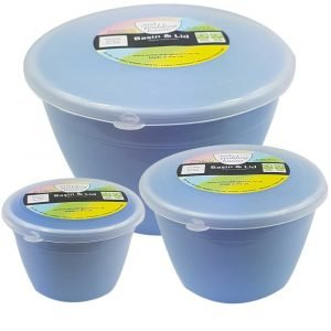 Blue Plastic Pudding Basin Set