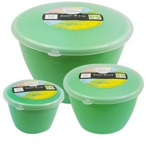 Small Green Pudding Basin Set