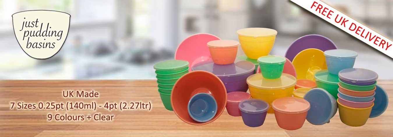 Plastic Pudding Basins
