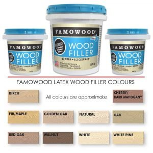 Famowood Latex Wood Filler Cherry & Dark Mahogany