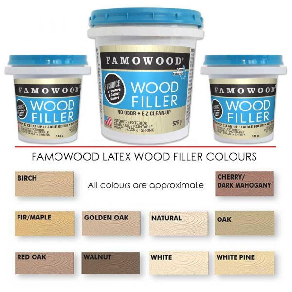 Famowood Latex Wood Filler Walnut