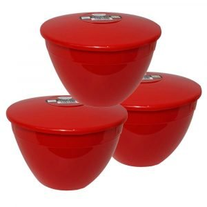 Red Pudding Basin 1.5pt x 3