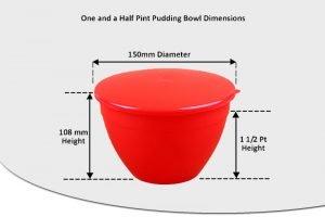 1 1/2 Pint Pudding Basins - 850ml