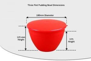 3 Pint Pudding Basins - 1.7lt