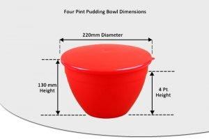 4 Pint Pudding Basins - 2.27lt