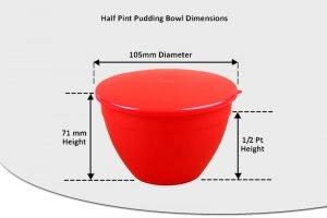1/2 Pint Pudding Basins - 280ml