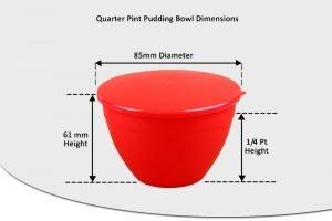 1/4 Pint Pudding Basins - 140ml