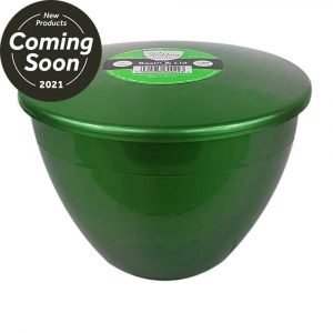 2 Pint Green Pudding Basins with Lids Emerald Coloured