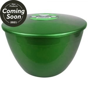 Large 3 Pint Pudding Basin with lid in Emerald Green x3