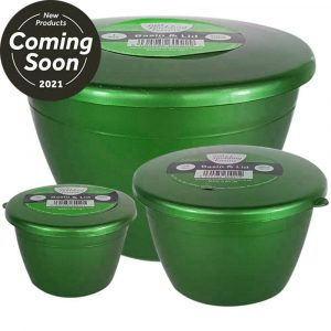 Small Sizes set of 3 Emerald Green Pudding Basins with Lids