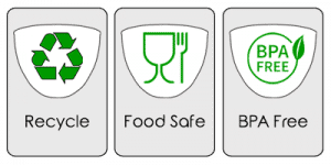 Recycle, Food Safe and BPA Free